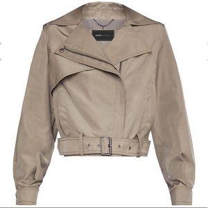 BCBGMaxazria Payton cropped trench jacket